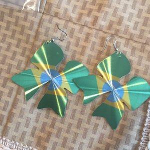 Jewelry - 🔴3/$20 Green fashion jewelry earrings